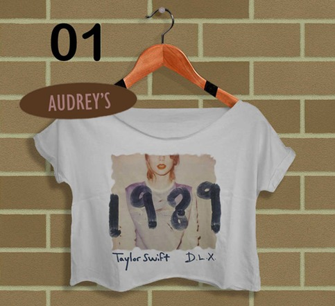 Ts 1989 real photo shirt.taylor swift crop top crop tee white ts01tft from topfashiontarget™ on storenvy
