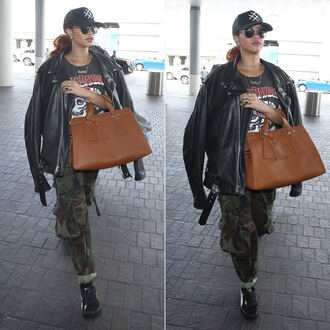 jacket top hat pants rihanna