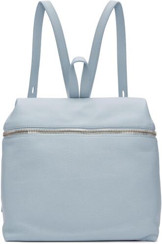 backpack leather backpack leather blue bag