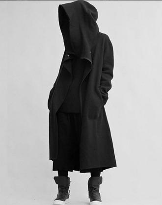 jacket black black coat mens coat