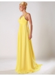 Pretty Yellow Chiffon V-Neck Beading And Sequins A-Line Evening Dress– Discount Evening Dresses