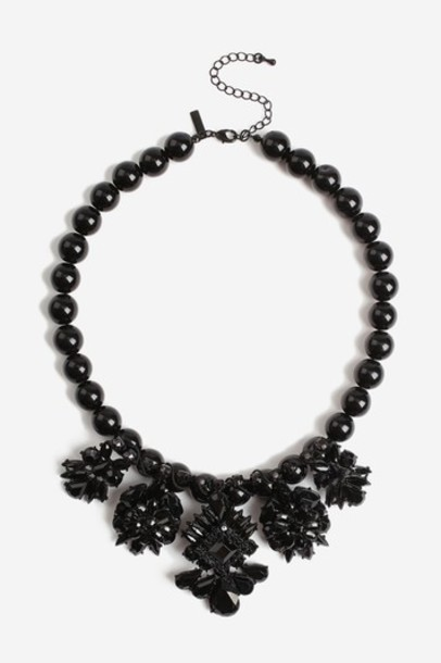 Topshop collar necklace necklace black jewels