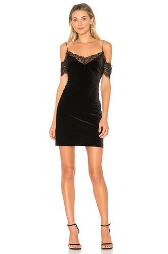 dress mini dress mini lace velvet black