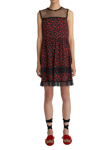 RED VALENTINO dress black dress print black