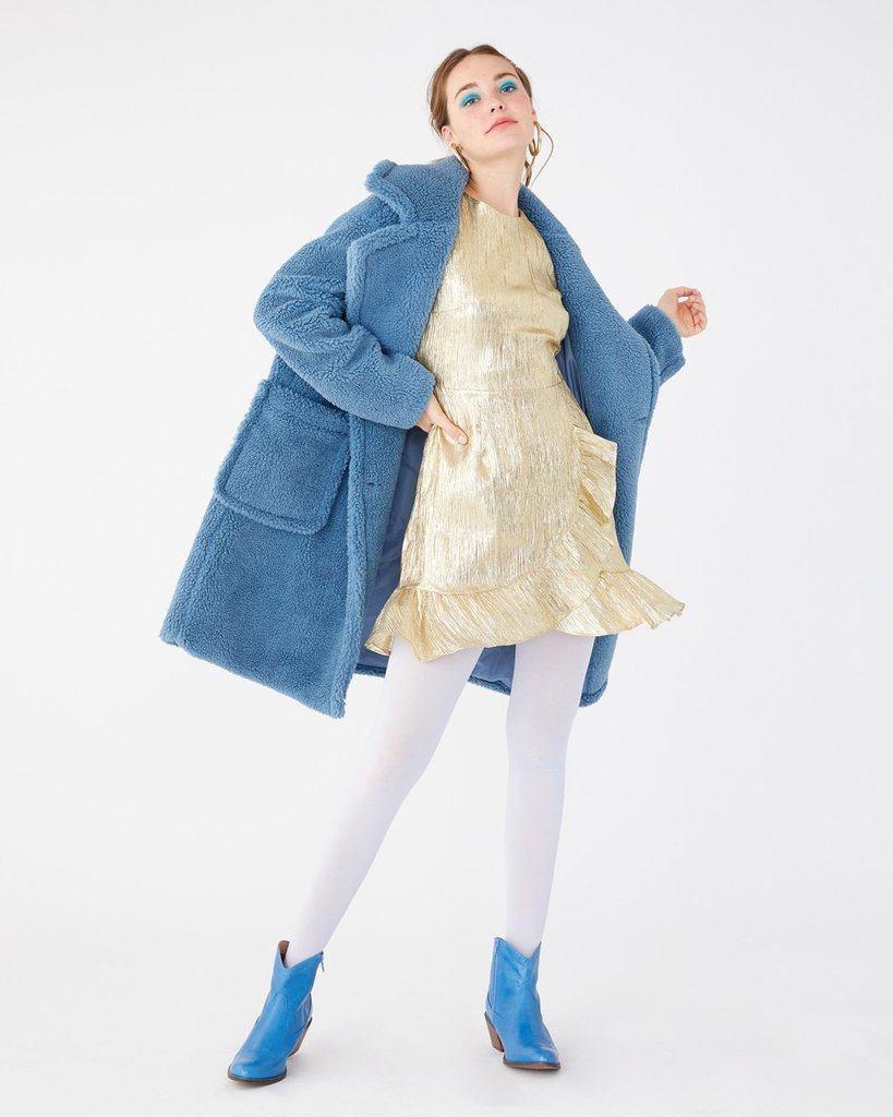 Mylar Mini Dress - Gold