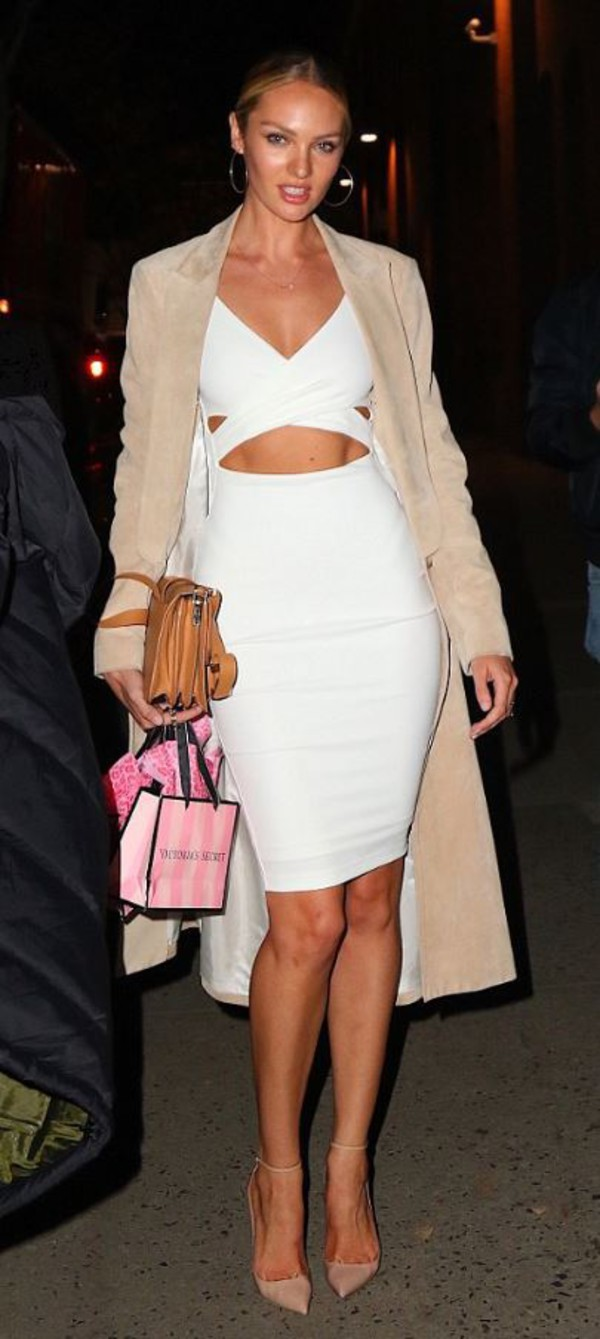 White Heidi Bodycon Dress : Buy Designer Dresses Online at Nookie