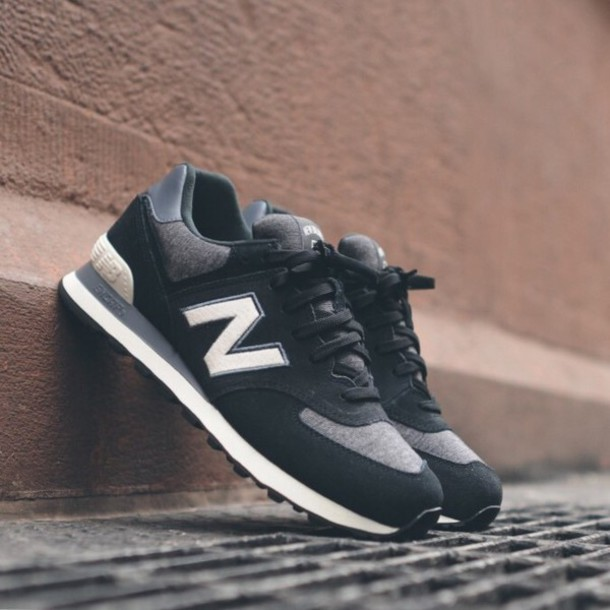 2abad13fe1f0 shoes new balance style black and white trendy
