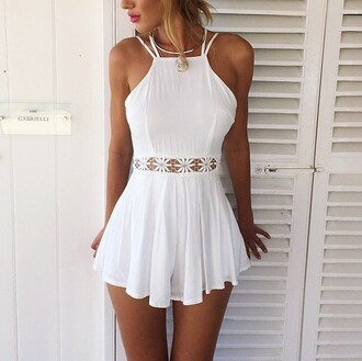 dress jumpsuit white white dress