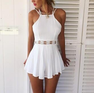 dress jumpsuit white white dress