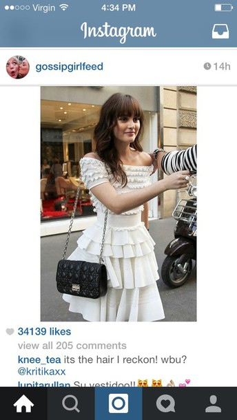 dress white blair waldorf dress