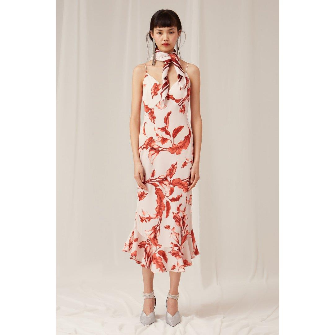 PRETTY ONE MIDI DRESS - PORCELAIN LILY