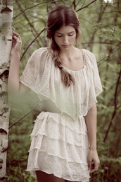 dress,romantic summer dress,white dress,collar,lace dress