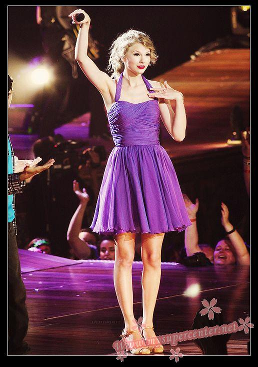 CelebrityPromFORSALE: Taylor Swift purple Dress Newark Speak Now concert FORSALE