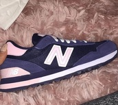 shoes,maggie lindemann,new balance,blue,navy,pink,sneakers,trainers,teenagers,snapchat,youtuber,viner,accessories,blue sneakers