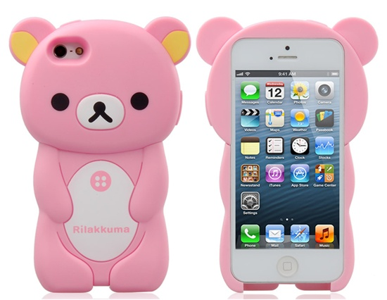 Only 7.00 Detachable Cartoon Bear Protective Case for iPhone 5 (Pink) - 11/03/2014