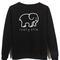 Ivory ella back sweatshirt back printed