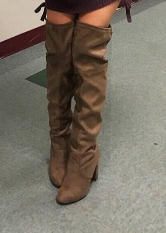 shoes boots suede brown beige fashion loren loren beech