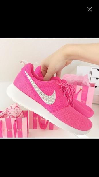 65ca4726f4c4 Pink Rhinestone Nike Running Shoes - MHAMD MHAMD