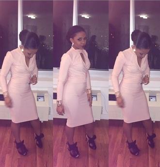 dress peach dress pink dress two-piece 2 piece skirt set