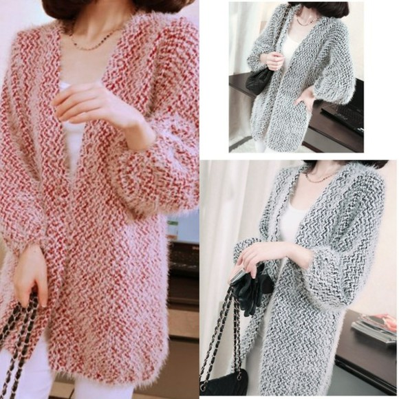 coat sweater i4out cardigan swag color clothes fashion clothing jacket veste look lookbook