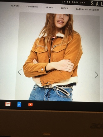 jacket brow jacket topshop fur trim