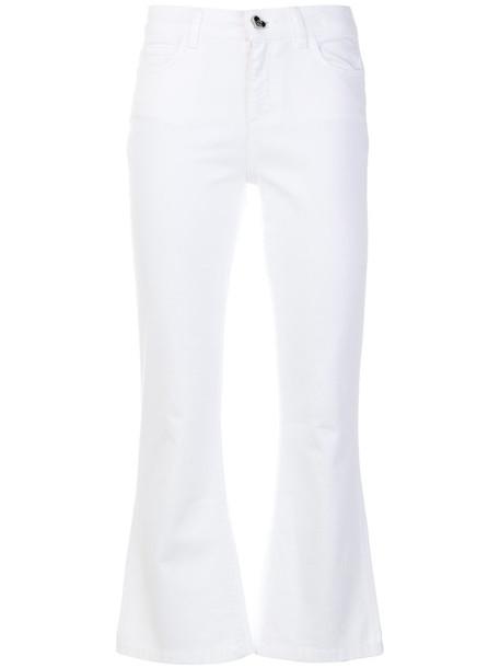Twin-Set jeans cropped women spandex white cotton