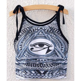 top rose wholesale illuminati dope grunge swag crop tops blue and white trendy tumblr