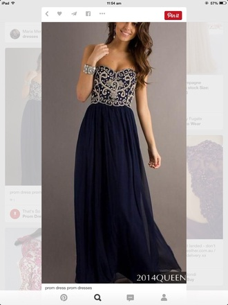 dress navy formal dress sparkle