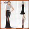 Gfl009 sexy lady dress cap sleeve high slit customed made round neck elegant mermaid black long prom dresses 2014 with crystal-in prom dresses from apparel & accessories on aliexpress.com | alibaba group