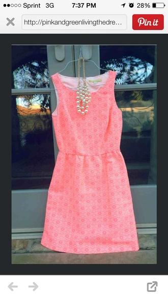 dress pink grad short
