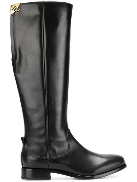 Fabi high women knee high knee high boots leather black shoes