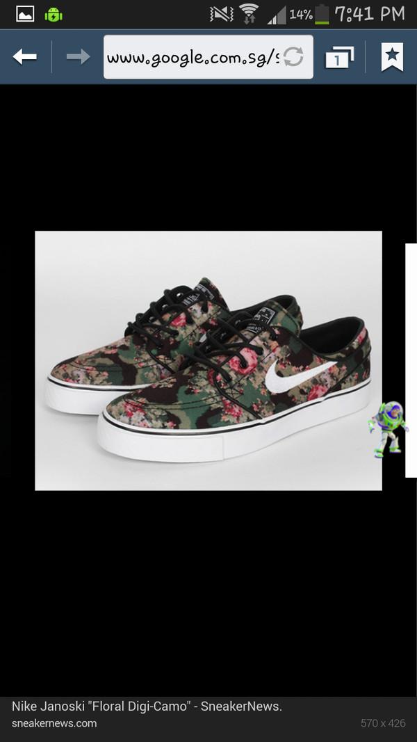 shoes nike floral janoski bag