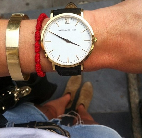 jewels bangle bracelets watch red