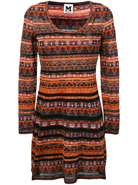 M Missoni dress knitted dress metallic women cotton