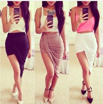 skirt draped sexy clubwear