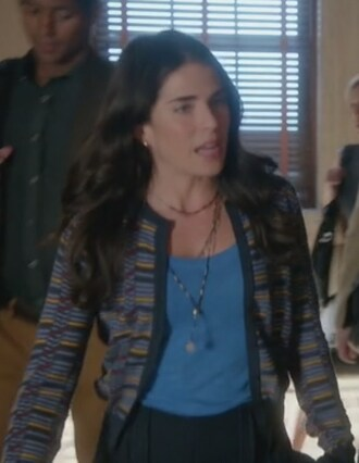 cardigan blue t-shirt how to get away with murder laurel castillo karla souza