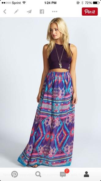 skirt summer skirt purple dress maxi skirt tribal skirt sexy dress