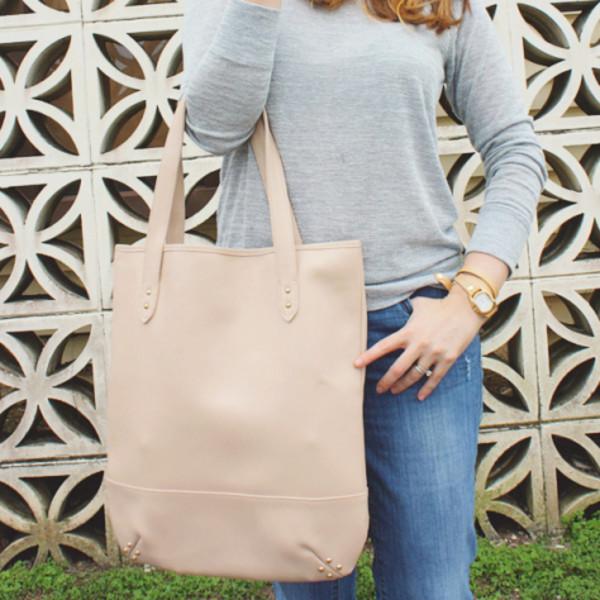 a pretty penny sweater jeans bag jewels