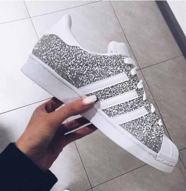 Glitter Limited Edition Silver Adidas Superstars Ii Fashion