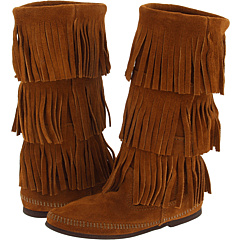 Minnetonka Calf Hi 3-Layer Fringe Boot - Zappos.com Free Shipping BOTH Ways