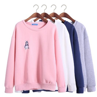 sweater pink casual black grey fashion style trendy warm long sleeves fall outfits musheng