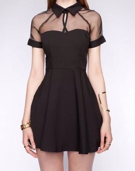 black dresses little black dress collared dress knee length dress collar dress knee length dresses gothic dress gothic style