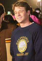 sweater,sweatshirt,hoodie,uni,university,berkeley,uc berkeley,the oc,ryan atwood,blue,navy,yellow,california,top