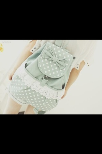bag korean style school green loop korean fashion backpack school bag
