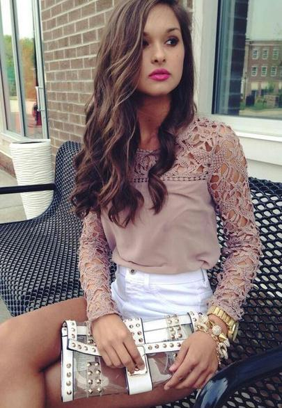 Embroidery lace stitching snow spins round collar long