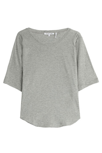 t-shirt shirt cotton grey top