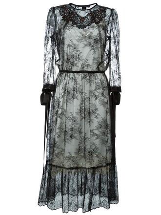 dress lace dress embellished lace black