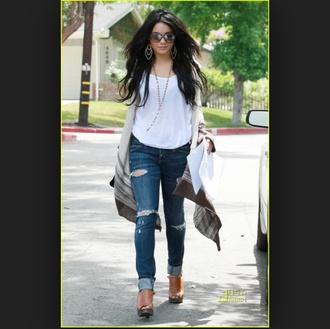 shirt vanessa hudgens sweater shoes jeans