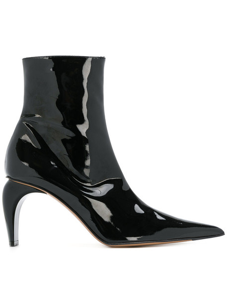 Misbhv women ankle boots leather black shoes