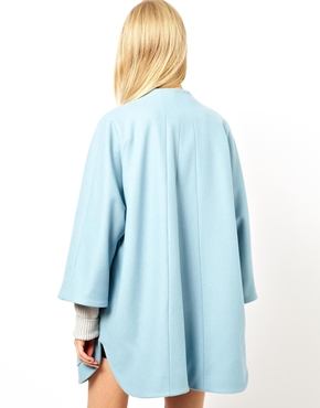 ASOS | ASOS Trapeze Button Front Coat at ASOS